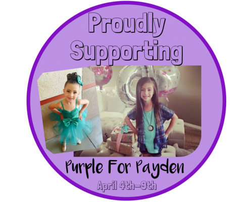 Purple For Payden Stickers(4)
